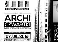 [07.04.2016] ArchiCzwartki - arch. Robert Konieczny